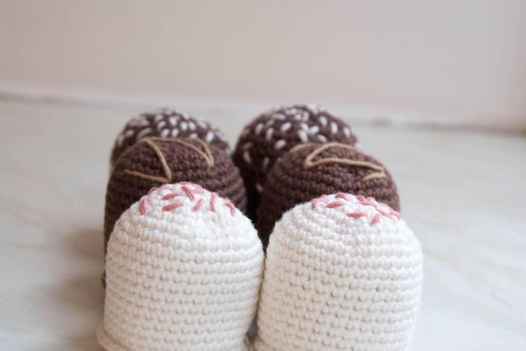 hæklede flødeboller